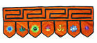 Türbehang Toran Thorang L=95 cm Nepal Stickereien orange Baumwolle Goa Hippie