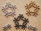 50/100/200 Premium Quality Bright Snowflake Spacer Beads 6mm ,8mm or 10mm