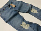 Levi's Levis 510 Skinny Distressed Ripped Shredded Jeans Vintage Washed