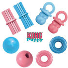 KONG Puppy Dog Chew Toy Binkie Teething Stick Ball Fetch Pink Blue Soft Rubber