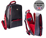 More images of Premium Leather Bee Ladies Backpack Rucksack Black / Red with Gold Bee 7193 27