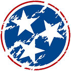 Tennessee Tri Star Sticker Decal (Select your Size)