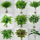 For Artificial Plant Fake Leaf Foliage Bush Home Office Garden Wedding Decor*