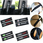 2 Pack/ Pair Carbon Fiber Car Safety Seat Belt Strap Shoulder Cover Harness Pads