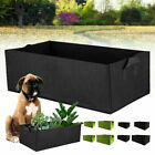 Garden Planting Grow Bag Fabric Container Vegetable Flower Planter Bed Rectangle
