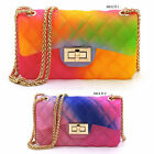 Quilt Embossed Multi Color Jelly Classic Shoulder Bag Candy Crossbody Bag Purse
