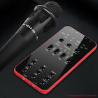 JW External Audio Microphone Universal Live Broadcast Sound Card for iOS Andr