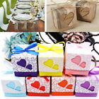 Favor Kraft Paper Party Supplies Square Case Candy Box Chocolate Bag Love Heart
