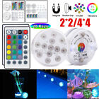 2/4 Set Swimming Pool Waterproof 13LED Light RGB Remote Control Underwater Lamp $24.99 USD on eBay