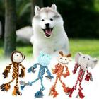 Pet Dog Puppy Chew Rope Toys Plush Squeaky Sound Teeth Cleaning G0T6