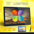 "15""inch HD LED Digital Photo Picture Frame MP4 Music/Video/Player Remote Control"