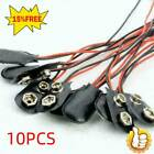 10 Pcs Snap 9v (9 Volt) Battery Clip Connector I Type K4i0 Cable Qu D2u5 C6h0