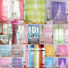 Colorful Floral Flower Sheer Curtain Panel Door Window Tulle Voile Room