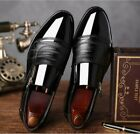 Mens British Groom Wedding Dress Pointy Toe Formal Shoes Patent Leather Pumps sz
