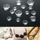 Flatback Transparent Clear Glass Domed Cabochons Cover J3h0 Findings Round L3c7