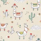 Lima Llama Natural - 100% Cotton Fabric Childen Quilting