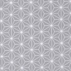 Sashiko - Silver Grey - 100% Cotton Fabric Japanese Geometric Quilting Crafts