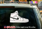 Nike Limited Edition PE Jordan 1 Decal - car window laptop or wall sticker #18