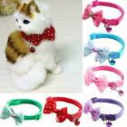 Adjustable Pet Collar Reflective Nylon Cat Safety Collar Bell Kitte with V3Z2