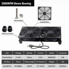 Router Cooling Fan DIY PC Cooler TV Box Wireless Quiet DC 5V USB