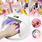 SUN7X 60W LED Nail Dryer Lamp Gel Polish Nail Light Curing Manicure+ W