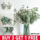 Artificial Fake Leaf Eucalyptus Green Plant Silk Flowers Nordic Home Decor-th Uk