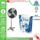 Wind King Pedestal Fan 16 Inch 360 Degree Oscillating Up Down & Around Air Mover