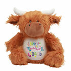 Large Highland Cow 45cm Personalised Soft Plush Teddy Embroidered & your Name