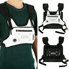 Tactical Front Chest Rig Bag Nylon Pouch Reflective Sport Waterproof Hiphop Bag
