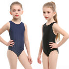 Girls Bikini One Piece Swimsuit Children Racer Back Training Bathing Suits 541