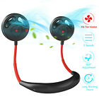 2 in 1 Portable USB Rechargeable Mini Neck Wearable Cooling Air Conditioner Fan