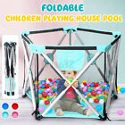 5 Sides Children Play Pen Fence Baby Safety Playing Pool Outdoor Indoor  US