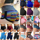 Women Ruched High Waist Push Up Booty Shorts Gym Sport Fitness Yoga Hot Pant A09
