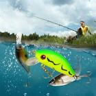 New Double Section Bionic Fishing Lure Crank Bait Tackle Bass Hook Durable