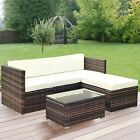 Rattan Garden Furniture Set 4 Seater Patio Outdoor Corner Sofa Glass Table