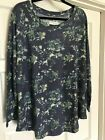 Peace & Pearls Women's Floral Waffle Knit Tunic  *** ASST COLORS & SIZES ***