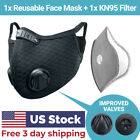 Cycling Face Mask with Activated Carbon Filter Valves Sports Reusable 1 & 2 Pack