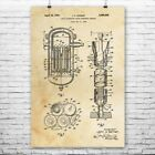 Liquid Moderated Nuclear Reactor Poster Print Power Technician Engineer Gift