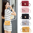 Multifunctional Mini Small Square Pack Shoulder Bag Pu Leather Wallet Handbag