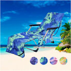Beach Chair Cover Lounge Towel Microfiber Chaise Cover with Side Storage Pockets