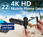 22x 4K HD Zoom Telecope Telephoto Camera Lens+Clip For iPhone 11 Pro XS 8 Plus 7