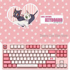 Sailor Moon Anime Cherry MX Keyboards Pink Cute Kawaii Keyboards 87Keys Gifts