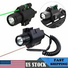 Green/Red Dot Laser Sight Tactical LED Flashlight Picatinny Rail for Hunting US