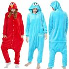 Adult Sesame Street Elmo Cookie Monster Costume Pajamas Pajamas Sleepwear New