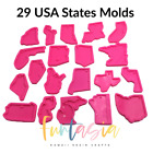 USA States Mold-29 State, Silicone Shiny Mold for Epoxy Resin Crafts