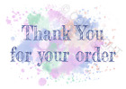 1-100 Pack of Thank You for your Order Cards Postcards & Envelopes A6 Watercolor