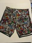 Marvel  Comics Superhero Men's Swim Trunks  - available  in Size Large- New