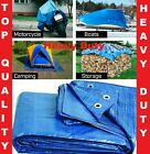 TARPAULIN HEAVY DUTY COVER WATERPROOF GROUND ROOFING CARAVAN SHEET CAMPING TENT