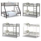 Triple Bunk Beds Metal Frame Single Double Bunk Bed Sleeper Adults Kids Children
