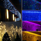 39FT 288 LED Curtain Icicle String Fiary Lights Garland Christmas Decor Outdoor